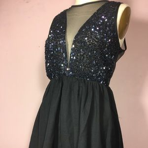 Forever 21 Sequin Sheer Party Dress Cocktail Small